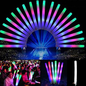 20pcs / lot luz LED flash espuma de la esponja Sticks Rave Glow Cheer tubo Fies DIY concierto y evento