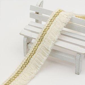 28 milímetros Beige Cotton Fringe Tassel Lace guarnição da fita DIY Hometexile Roupa Curtain Decor DIY Costura Acessórios