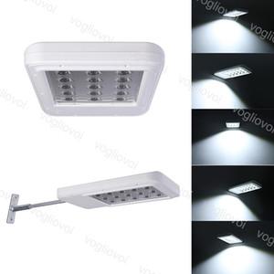 Straßenlaternen Solar LED Outdoor Beleuchtung Wandleuchte ABS Anti UV 15LED Wasserdichtes Kühlweiß für Straßengarten Yard DHL