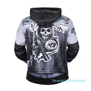 Fashion-halloween mens designer hoodie fall winter luxury 3D print imitation leather jacket hoodies skeleton sweartshirt skulls