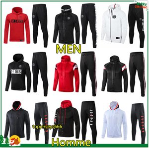 19 20 Homme Sweat à capuche psg paris hoodie jacket 2019 2020 psg jordan survêtement de football 18 19 20 champion MBAPPE Hoodie survetement psg