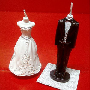 New candle wholesale creative birthday candle Valentine's Day confession dress wedding dress simulation candle wedding accessories decoratio