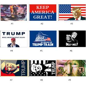 3 * 5FT Donald Trump 2020 Flags Keep America Great Bannière 9 Styles Drapeaux Jardin pour 2020 Président USA Election