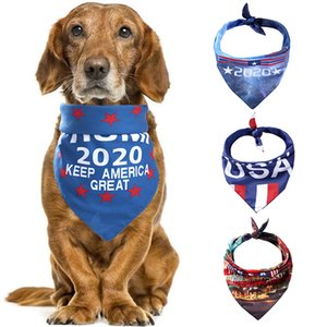 DHL Shipping Presidential Trump Dog Bandana Collars Triangle Neckerchief Bibs Scarves Accessories Pet Cats Baby Puppies Saliva Towel B119F