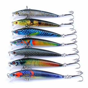 Bionic Bait 7 Colour Painting 7.5cm 5.4g Hard Bait Hook Artificial Bait Fishing Tackle Accessories