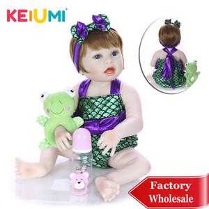 Nouveau Design Keiumi Plein Silicone Reborn Menina Cosplay Sirène Mignon Reborn Baby Poupée Pour Enfants Playmates Anniversaire Cadeau Surprise MX190801