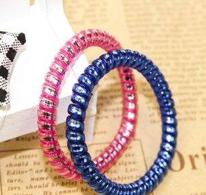 Bunte Frauen Haarband Mädchen-Süßigkeit-Farben-Stirnband Telefonkabel elastische Pferdeschwanz-Halter-Haar-Ring Durchmesser 5cm