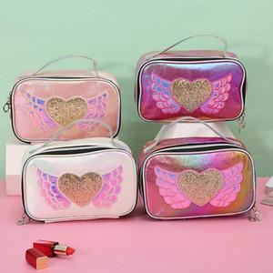 Laser di amore di modo Cosmetic borsetta portatile impermeabile di bellezza Organizzatore toilette trucco Custodia da viaggio Business Women Make Up Box
