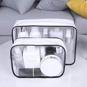 Transparent PVC Bags Travel Organizer Clear Makeup Bag Beautician Cosmetic Bag Beauty Case Toiletry Make Up Pouch Wash Bags