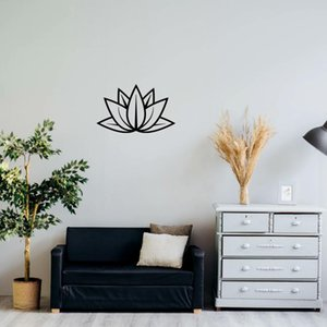 Symbol der ewigen Leben Lotus Design Metall-Wand-Kunst, Lotus-Blumen-Kunst, Yoga Metall-Wand-Dekor, Metalldekor