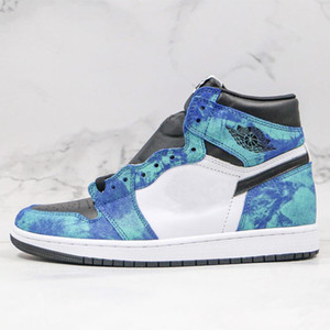 New 1 High OG WMNS Tie Dye Zapatos Men Women Basketball Shoes 1s Jumpman Athletic Sports Trainers Mens Designer Sneakers Size 36-46