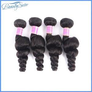 Chinese Haar Großhändler Korea reines Haar der losen Welle bündelt 4pieces 400g Menge unverarbeiteter 9a menschliche Haarwebart natürliche Farbe frei ups