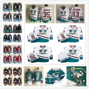 Mens Mighty Ducks 96 Charlie Conway 9 Paul Kariya 8 Teemu Selanne 13 Jean-Sebastien Giguere 35 애너하임 33 그렉 골드버그 하키 유니폼