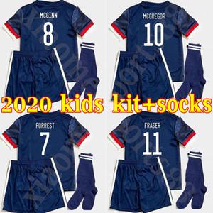 2020 SCOTLAND كرة القدم البلوزات منزل BOBERTSON 2 FRASER 11 ARMSTRONG 18 BURKE 9 CcGREGOR 10 فورست 19 20 KIDS الطفل جرسي كرة قدم قميص