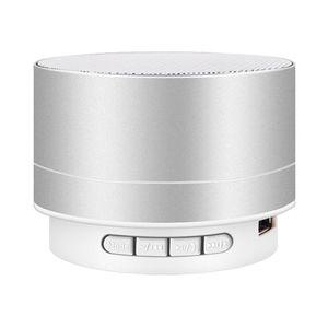 LED 미니 블루투스 스피커 A10 TF USB FM 무선 휴대용 음악 사운드 서브 우퍼 라우드 스피커 전화 PC + 소매 상자