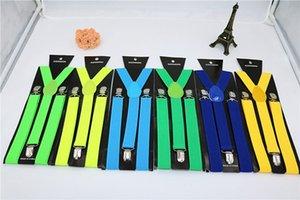 2,5 centímetros Unisex Suspender Belt Vintage Homens Suspender shirt Estadia Suspensórios Sólidos Casual 3 Clips britânica Estilo Acessórios FFA3782 FFA3782-2