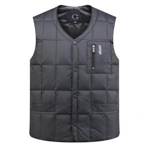 YICIYA anatra Piumino Moncler Uomo Autunno Inverno senza maniche con scollo a V Warm Button Down Leggero Gilet Fashion Casual Male Vest