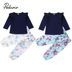 Venta caliente muchachas de la ropa de marca resorte de los niños ropa de los muchachos de las colmenas manga larga niño de la ropa del T-Mierda + pantalones roupa Infantil
