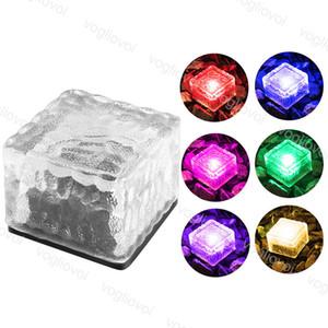 Solarlampen-Platz Brick LED wasserdicht IP68 Bunte Glas für die Außenbeleuchtung Hof Treppenbühnen Garten Rasen Dekoration DHL