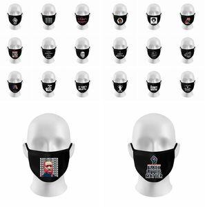 Eu não posso respirar Máscara Máscara Protesto face da tampa Facemask pano preto lavável BLM Preto Vidas Matéria algodão máscara LJJK2219