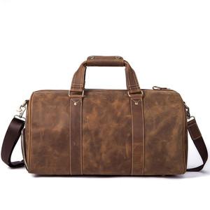 Handbag Computer Leather Leather Bags Vintage Weekend Travel Carry on Horse Crazy Luggage Laptop Bag Men Men Bag Duffle Rtbtk
