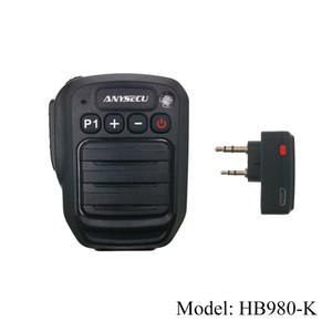 Baofeng UV-82 UV-5R UV 888S TH-UV8000d Walkie Talkies için K konektör ile Anysecu Kablosuz Mikrofon Hoparlör HB980-K