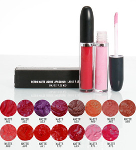 Best quallity New Hot Makeup Retro Matte Liquid Lips Lip Gloss 5ML 15 Color High-quality DHL shipping+Gift