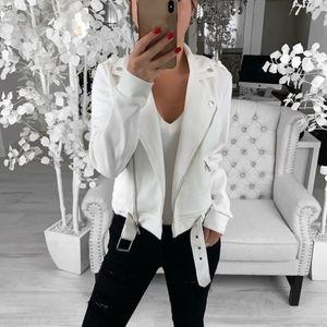 Mulheres Casaco de Moda de Manga Longa Frente Aberta Curto Turn-down Collar Cardigan Terno Casaco de Outono novas jaquetas curtas T #