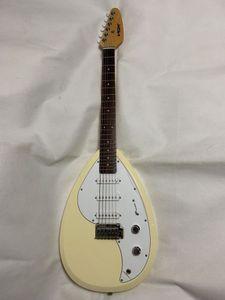 VOX Mark III V MK3 Teardrop Tipo chitarra elettrica 3S giallo naturale singolo Tremolo Chrome Hardware