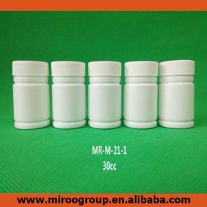 100 + 2pcs 30ml 30cc 30g HDPE vuoto bianco bottiglie pillola Capsule contenitore di plastica con vite Sealers Tappi in alluminio