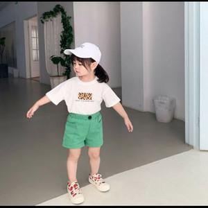 소년 소녀 디자이너 반바지 2020 새로운 패션 캐주얼 느슨한 비치 ShortsChildren 단색 반바지 키즈 캐주얼 바지 아동 바지