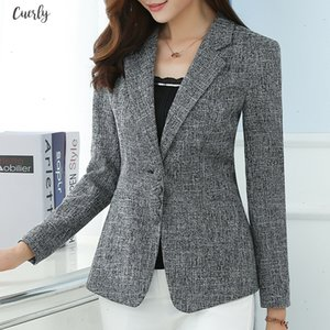 New The High Quality Autumn Spring Womens Blazer Fashion Lady Blazers Coat Suits Female Big S 5Xl Code Jacket Suit T956