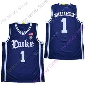 2020 Нового NCAA Duke Blue Devils Джерси 1 Williamson Баскетбол Джерси Колледж Белого Navy Все прошитой Размер Молодёжных взрослых