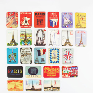 24 PCS 파리 타워 볼거리 냉장고 자석 세트 냉장고 마그네틱 스티커 프랑스 여행 기념품 홈 데코레이션