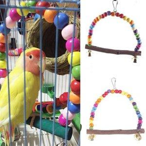 새 장난감 화려한 앵무새는 애완 동물 앵무새 장난감을 공급 새장 장난감 앵무새 2 크기 등반 사다리 조류 스탠드 스윙