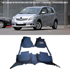 Para Prius V 7 Asientos 2012-2015 ZVW40 / 41 durable impermeable personalizada Car Styling Floor Mats parte posterior del frente del sistema completo