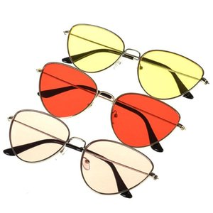 1 x Sunglasses Trend new cat eye metal sunglasses retro glasses for men and women Fashion Eyewear & Accessories Party Supplies