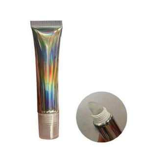 15 мл/г голографический Серебряный пустой выжимной блеск для губ трубка пластиковый блеск для губ контейнер 20 мл/г косметическая упаковка бутылка 50 шт.