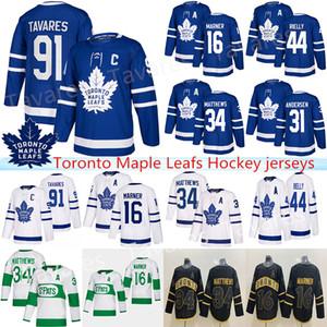 Toronto Maple Leafs Jersey 91 John Tavares Hockey Jerseys 97 Connor McDavid uomini 34 Auston Matteo 16 Mitchell Marner Winnipeg Jets 29 Patri