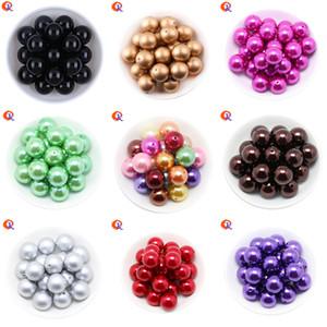 Cordial design Charms bijoux colorés 6-20MM rondes acryliques perles imitation perle pour Chunky collier de perles Bracelet Faire T200323