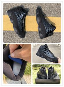 13 chapeau et robe chaussures de basket-ball hommes 13s Atmosphère gris réel en fibre de carbone de sport Chaussures de sport d'athlétisme en plein air gratuit Shippment avec la boîte