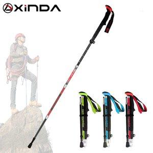 kat yükseltme Yürüyüş XINDA Katlama Trekking Polonyalılar Karbon Elyaf Ultralight Hızlı Kilit Baston Yürüyüş Nordic Walking P Koşu Sticks ...