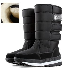 Size 39-47 Men Platform Non-slip Thick Wool Snow Boots Cold Winter Man Keep Warm Waterproof Shoes Outdoor Mid-Calf Male Boots