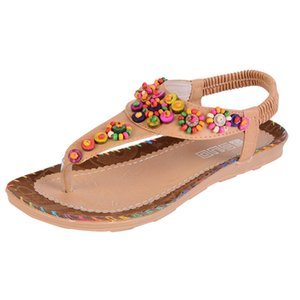 Oeak Damenmode Sandalen Sommer Frauen Sandale Böhmen nationale Flavor Schuh-Frauen-Wear-resisting Damenschuhe