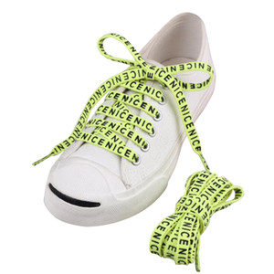 0.2cm Толщина Плоская печати Шнурки Letters полиэстер обувь Шнурки Мода 100 / 120см