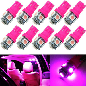100X T10 2825 168 194 Pink Purple 5SMD LED Interior Dome Map Trunk Light bulbs 3020 12v pink Wedge Lighting door lamp