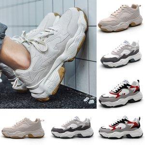 Fashion Triple Black white Low cut Brown Men Casual shoes comfortable Cheap breathable women men shoe sports sneakers