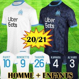 Thailand Maillot OM Olympique de Marseille Fußball Jersey 2020 2021 Marseille Maillot de foot Benedetto PAYET 20 21 THAUVIN Herren Kinder Shirts