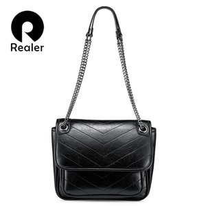 Realer Shoulder Bag Women Messenger Bags Ladies Chain Crossbody Bag Artificial Leather Purse And Handbag Fashion Female J190616