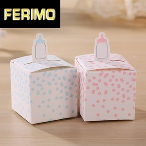 Classic Baby Bottle Favor Box Candy Gift Boxes For Baby Shower Party Favors 50pcs